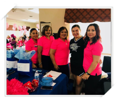 ladies attending an event for seniors